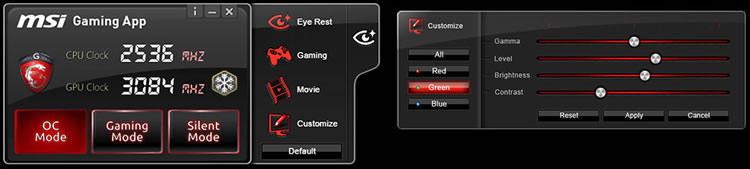 MSI GTX 960 Gaming App